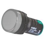Billede af Hvid signallampe med LED 230V AC til indbygning
