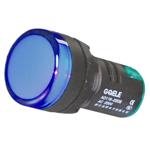 Billede af Blå signallampe med LED 230V AC til indbygning