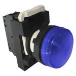 Billede af Blå signallampe 230V AC/DC