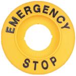 """Billede af Skilt til nødstop """"Emergency Stop"""""""