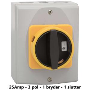 Billede af Sikkerhedsafbryder 25Amp - 3-pol 1 slutter 1 bryder