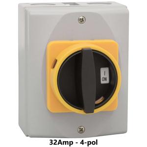 Billede af Sikkerhedsafbryder 32Amp - 4-pol