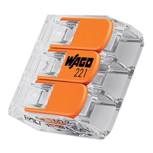 Billede af Wago samlemuffe til 3 leder max. 4 mm²