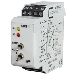 Billede af 2 Trins relæ med 0-10V styreindgang, manuel omskifter + kontakt