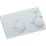 Billede af Hygrostat og termostat til vægmontering. Drejeknap til justering mellem 35-100% r.H. og +10°C...+35°C