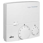 Billede af Kombi hygrostat og termostat til vægmontering. Drejeknap til justering mellem 30-100% r.F. og 10-35°C. Kontakt til sluk af begge funktioner