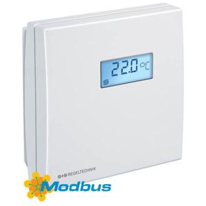 Billede af Modbus fugt- temperaturføler | display | IP30