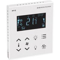 Billede af Modbus rumcontroller hvid   touch til temperatur   ventilation   belysning   til stede