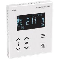 Billede af Modbus rumcontroller hvid   touch til temperatur   ventilation   til stede