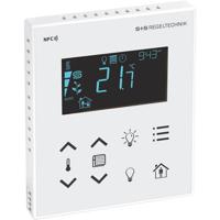 Billede af Modbus rumcontroller hvid   touch til temperatur   belysning   sol afskærmning   til stede