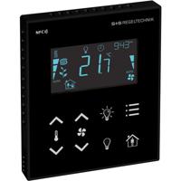 Billede af Modbus rumcontroller sort   touch til temperatur   ventilation   belysning   til stede