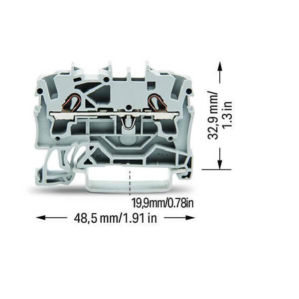 Billede af Grå rækkeklemme 2,5 mm²