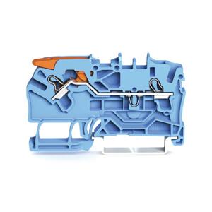 Billede af Blå rækkeklemme 2,5 mm² med pal