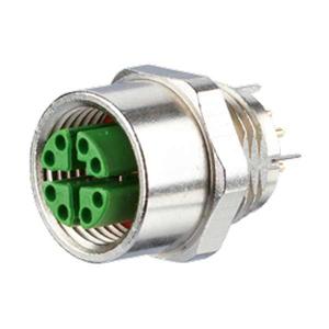 Billede af M12 Ethernet hun stik loddebar 8-polet X-kodet IP67