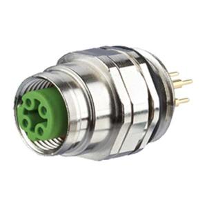 Billede af M12 Ethernet hun stik IP67 D-kodet