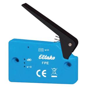 Billede af Trådløs kontakt i blå med energi generator. Forstærket udgave. Ved tryk sendes Data (hex) 0x00  Ved slip sendes Data (hex) 0x10