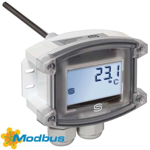 Billede af Modbus temperaturføler til kanal eller dykrør med eller uden display