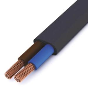 Billede af ledning 2x0,75 sort flad | 100m
