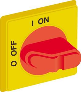 Billede af Drejegreb gul/rød til hovedafbryder monteret på bundplade eller DIN skinne