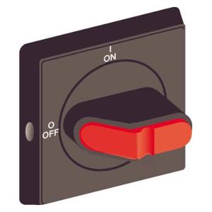 Billede af Drejegreb grå/rød til hovedafbryder monteret på bundplade eller DIN skinne