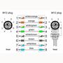 Billede af Vinklet M12 position of coding 45° ethernet kabel 8 polet -> lige M12 | Cat 6a | 5m