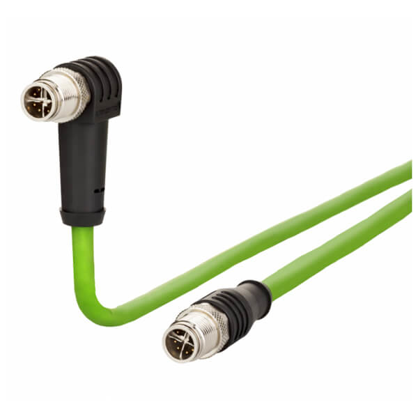 Billede af Vinklet M12 position of coding 135° ethernet kabel 8 polet -> lige M12 | Cat 6a | 10m