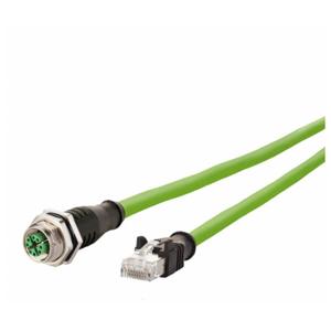 Billede af M12 hun stik ethernet kabel 8 polet -> RJ45 | Cat 6a | 2m