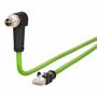 Billede af Vinklet M12 position of coding 315° ethernet kabel 8 polet -> RJ45 | 2m