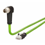 Billede af Vinklet M12 position of coding 135° ethernet kabel 8 polet -> RJ45 | 1m