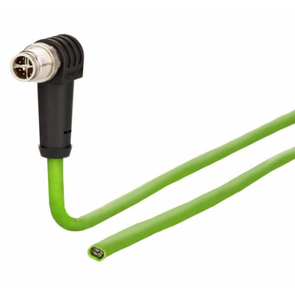 Billede af Vinklet M12 position of coding 225° ethernet kabel 8 polet -> fri ende | 5m