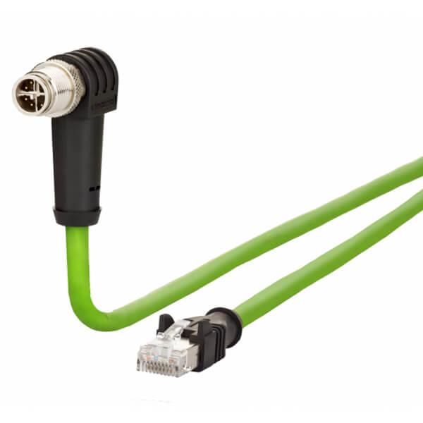 Billede af Vinklet M12 position of coding 225° ethernet kabel 8 polet -> RJ45 | 5m
