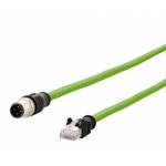 Billede af M12 ethernet kabel 4 polet -> RJ45 | Cat 5e | Profibus | AWG26 | 1m