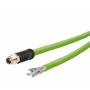 Billede af M12 ethernet kabel 8 polet -> fri ende | Cat 6a | egnet til kabelkæde | 10m