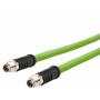 Billede af M12 ethernet kabel 8 polet | 2 stik | egnet til kabelkæde | 5m