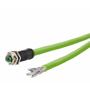 Billede af M12 hun stik ethernet kabel 8 polet -> fri ende | egnet til kabelkæde | 10m