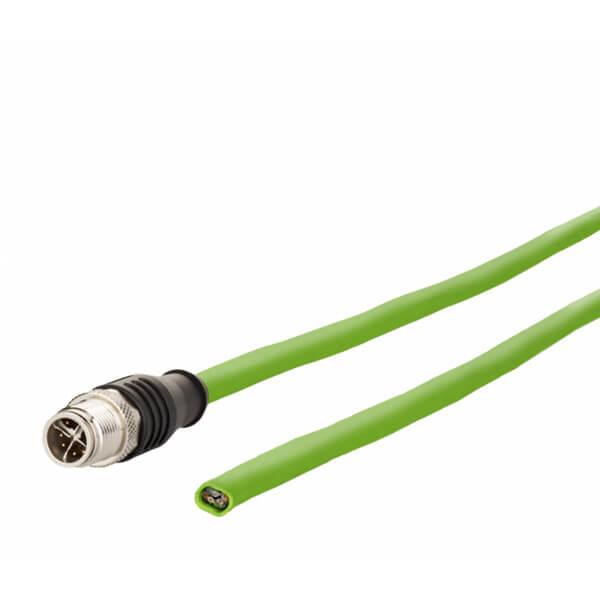 Billede af M12 ethernet kabel 8 polet -> fri ende | torsion bestandig | 10m