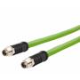 Billede af M12 ethernet kabel 8 polet | 2 stik | torsion bestandig | 2m