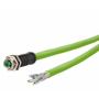 Billede af M12 hun stik ethernet kabel 8 polet -> fri ende | torsion bestandig | 10m