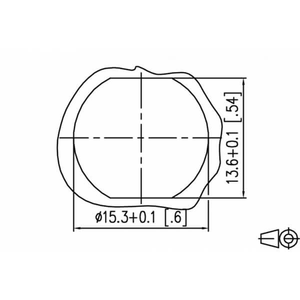Billede af M12 han -> hun ethernet kabel 8 polet | Cat 6a | torsion bestandig | 10m