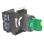 Billede af Drejegreb 1-0<-2   fast stilling venstre side   højre side med fjeder retur   grøn lampe 24V AC/DC