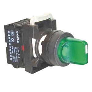 Billede af Drejegreb 1-0<-2 | fast stilling venstre side | højre side med fjeder retur | grøn lampe 24V AC/DC