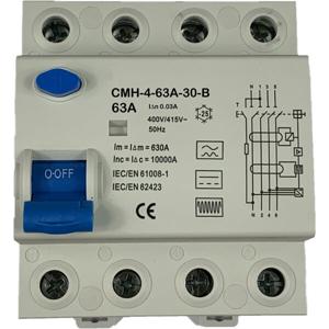 Billede af Type B | HPFI | fejlstrømsafbryder 63A | 30mA | AC/DC