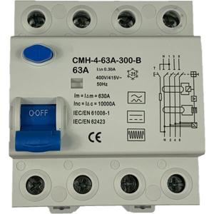 Billede af Type B | 63A | 300mA | AC/DC | PFI | fejlstrømsafbryder