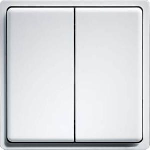 Billede af Trådløs Tryk | 2 Vipper med dobbelt funktion | Enocean protokol | Hvid