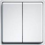 Billede af Trådløs Tryk | 2 Vipper med dobbelt funktion | Enocean protokol | Renhvid med glans