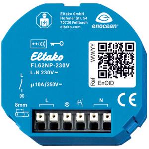 Billede af Trådløs modtager med kiprelæ funktion til lysstyring, 230V ikke potentialfri relæ