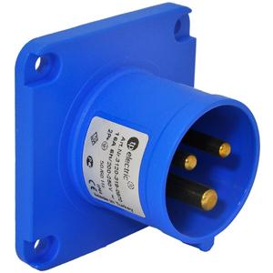 Billede af CEE indtag til indbygning blå 2+J 16A 230V, IP44