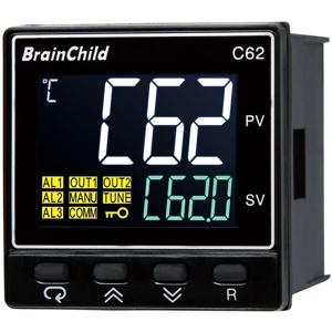 Billede af PID controller   Out 1 = relæ   Out 2 = relæ   230V forsyning