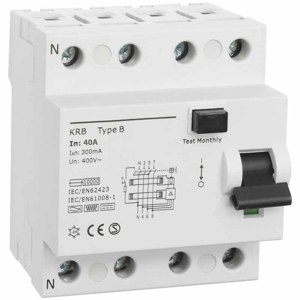 Billede af Type B | RCD | fejlstrømsafbryder 40A | 300mA | AC/DC