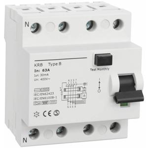 Billede af Type B | RCD | fejlstrømsafbryder 63A | 30mA | AC/DC
